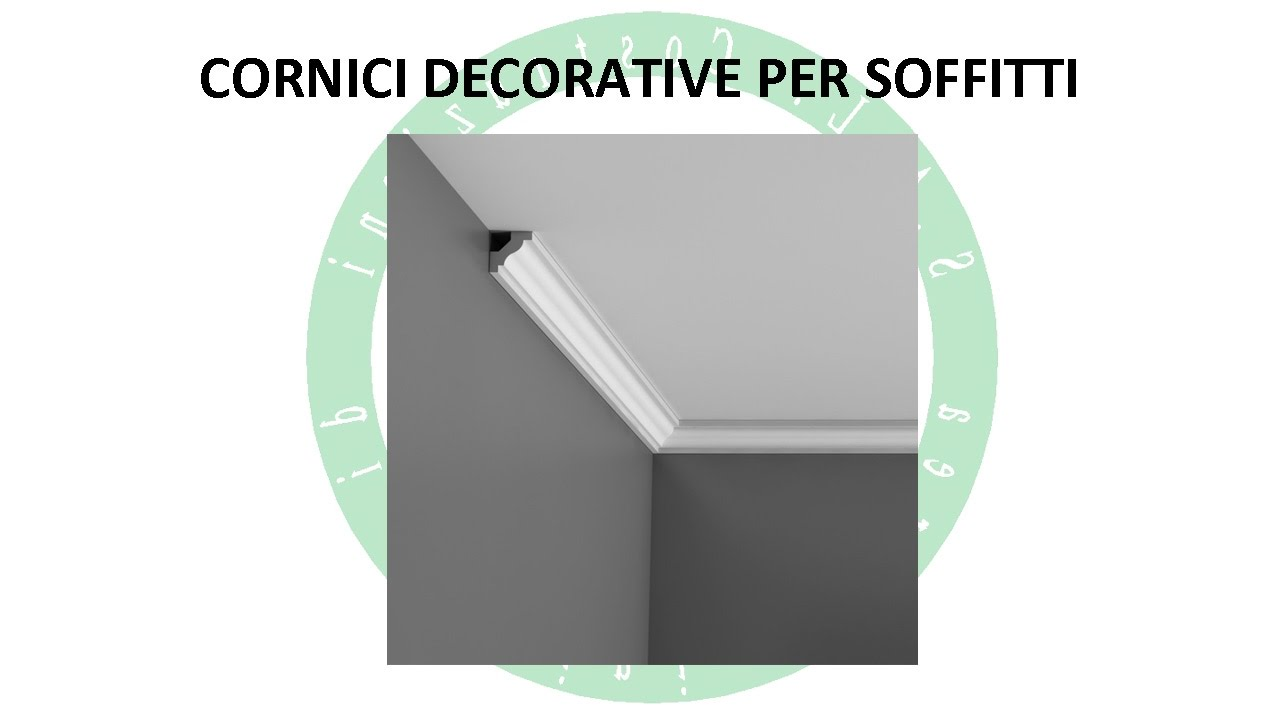 Cornici decorative per soffitti youtube for Cornici decorative polistirolo