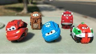 Disney Cars Toys Lightning McQueen, Mater, Red Fire Truck Surprise like Eggs