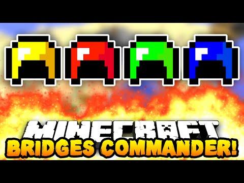 "Minecraft BRIDGES COMMANDER! ""FULL DIAMOND...?"" #1 w/PrestonPlayz, Pete & MrWoofless"