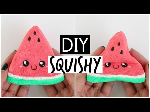 DIY Watermelon Squishy - Handmade SUPER Squishy Stress Ball