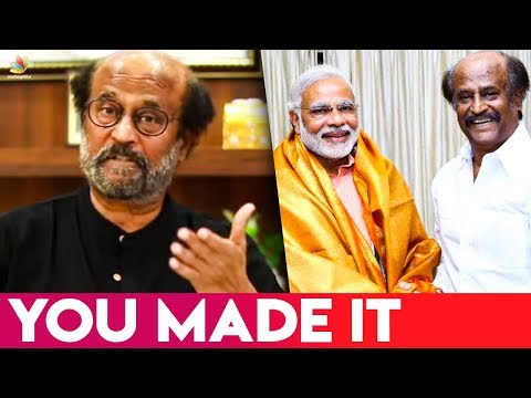 """You made it"": Rajinikanth wishes PM Narendra Modi 