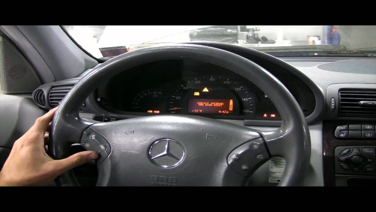 Benzwerks C Class 2001 2007 Oil Service Reset Youtube