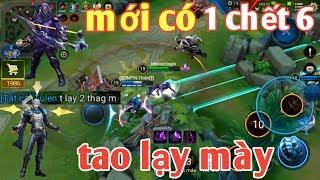 Liên Quân Mobile _ Anh Hảo Cầm Yorn Âm 6 Mạng Và Cái Kết Cả Team Quỳ Lạy Max Hài