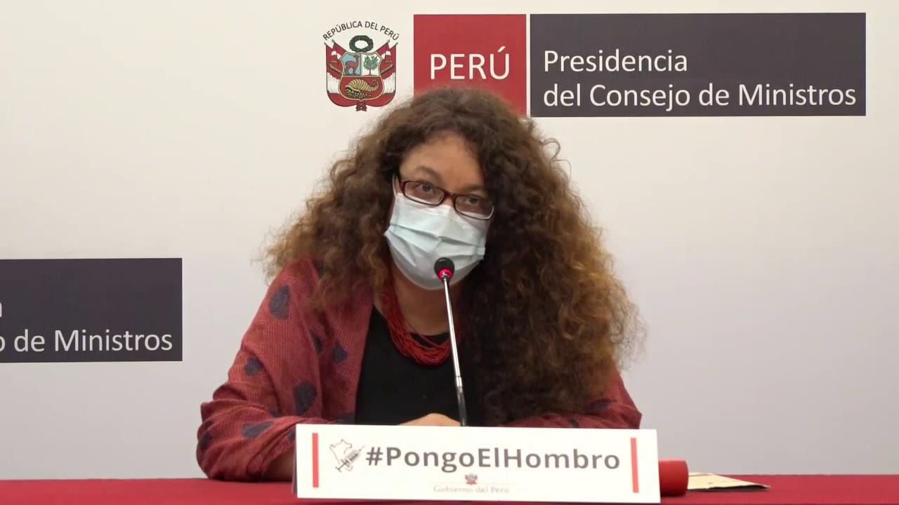 Perú avanza en el proceso de vacunación y entrega de bonos por pandemia según ministra Cornejo.