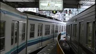 東武鉄道 浅草駅 8両編成 2両ドアカット Tobu Asakusa Station 8-car train two-car door cut