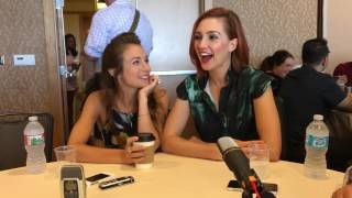 These Two are so funny! Katherine Barrell & Dominique Provost Chalkley   SDCC 2017