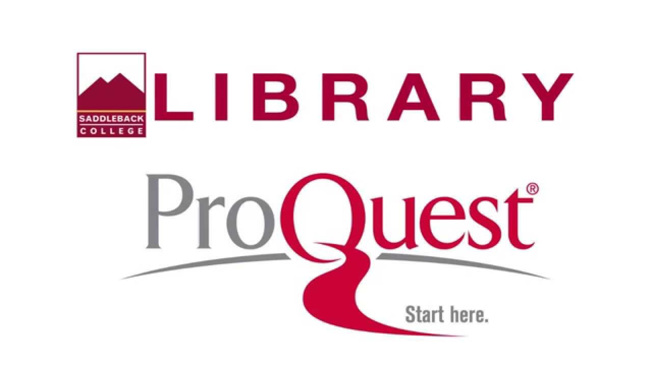 ProQuest Advanced Search - YouTube