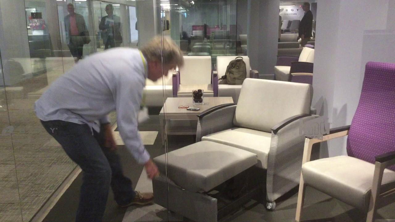 Lazyboy contract single sleeper chair demo