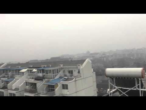 "Beijing Skyline Barely Visible as Pollution Hits ""Red Alert"" Level 1"