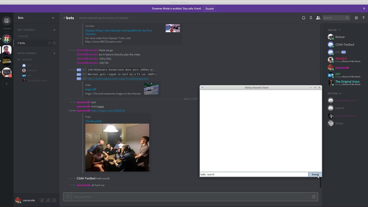 (Proof of Concept) Writing Custom Discord Clients (in Java)