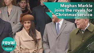 Meghan Markle joins the royals for Christmas service
