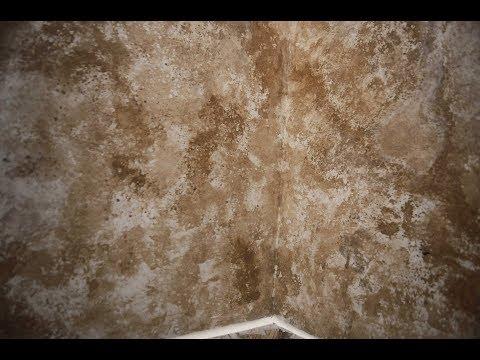 Ремонт стен в ванной.