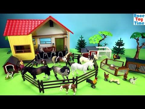 Toy Farm Animals Schleich Playsets Build and Play Toys