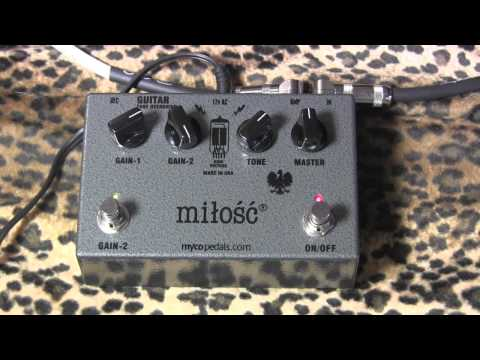 Myco Pedals MILOSC Tube Overdrive Demo With Gibson SG & Clean/dirty/direct Examples