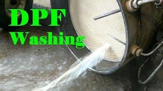 Washing a Cummins DPF and DOC