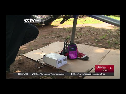 Electricity being generated using bicycles in rural Uganda