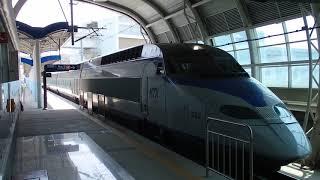 KTX仁川国際空港鉄道直通列車 黔岩駅発着 KTX in A'REX Geomam Station