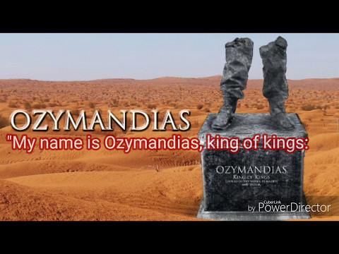 Ozymandias by Percy Bysshe Shelley CBSE class X-- Explanation and analysis with Poetic Devices