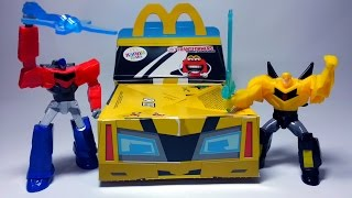 McDonalds Happy Meal Transformers 2015 Toys Optimus Prime and Bumblebee Review