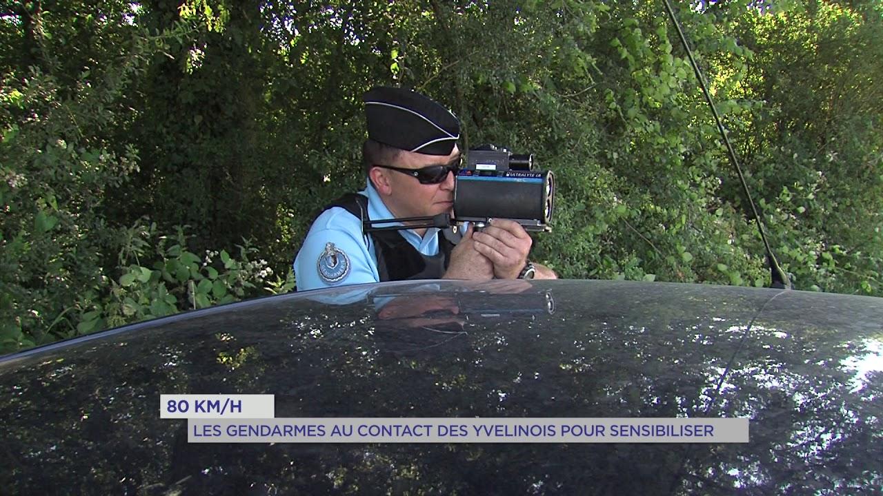 80km/h : les gendarmes au contact des Yvelinois pour sensibiliser