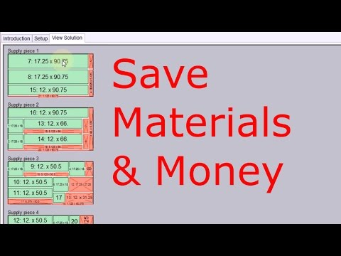 Optimize Layout of Parts on Sheet Materials
