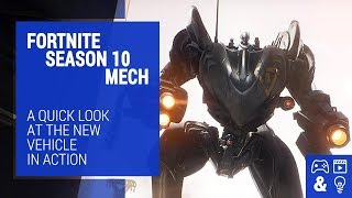 Fortnite Season 10 Mech Gameplay