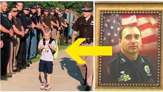 Five-Year-Old Boy Is Escorted To School By 70 Police Officers After His Cop Father Died On Duty