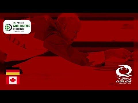 Germany v Canada - round robin - Pioneer Hi-Bred World Men's Curling Championship 2019