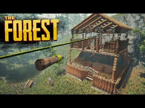 MEGA STORAGE FORT | The Forest Hard Survival S4 Episode 13
