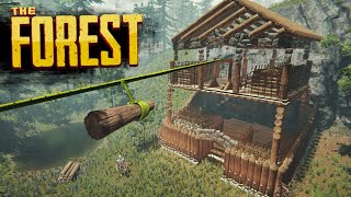 MEGA STORAGE FORT | The Forest Hard Survival S4 Episode 13