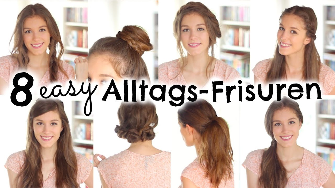 8 Easy Frisuren Fur Den Alltag Schule Barbieloveslipsticks Youtube