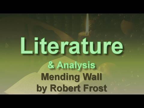 mending wall robert frost thesis The main theme in robert frosts poem mending wall is a comparison between two lifestyles: traditions and a common sense the author gives us a picture, illustrating.