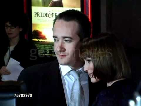 Matthew Macfadyen and Keeley Hawes red carpet Pride & Prejudice New York 2nd video