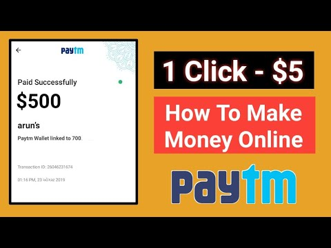 1 Click – 5$ In PAYTM !! Easiest Way To Earn Money Online !? Part Time Job For Students