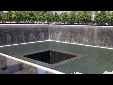 Ground Zero 911 Memorial And One World Trade Center Building In New York