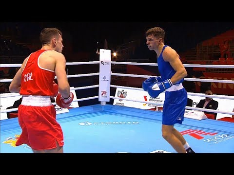 Round Of 32 (69kg)  WALSH Aidan (IRL) Vs McCORMACK Pat (ENG) /AIBA World 2019