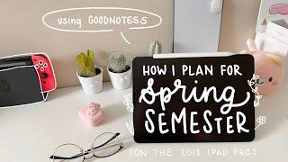 how i plan for the next semester | spring semester 2020 🎓🎉