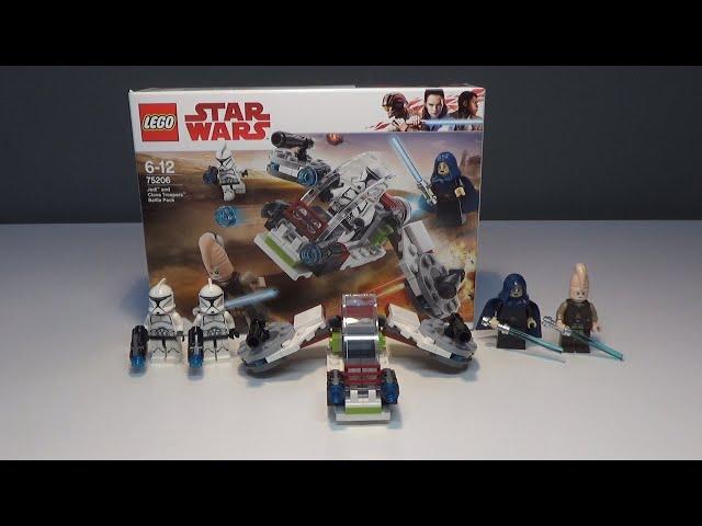 LEGO® Star Wars Jedi und Clone Troopers Battlepack Review(75206)|Brick on Block|