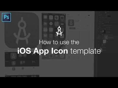 How to use the iOS App Icon Template - YouTube