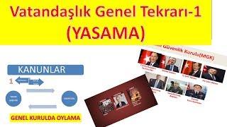 Vatandaşlık EN ÖNEMLİ KONULAR \u0026 GENEL TEKRAR-1 YASAMA