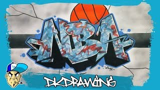 Graffiti Tutorial for beginners - How to draw graffiti letters NBA
