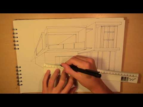 ARCHITECTURE | DESIGN #3: DRAWING A MODERN HOUSE (1-POINT PERSPECTIVE)