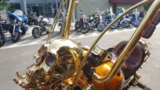 Karpacz 2018 zlot Harley Davidson - gold harley