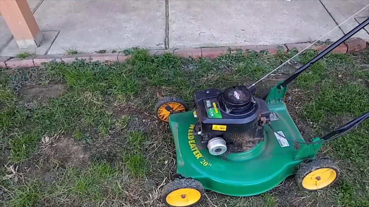 Weedeater 20 Lawnmower Reviw You