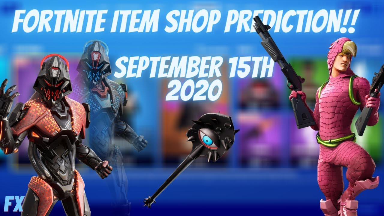 September 16th 2020 Fortnite Item Shop Prediction...Vision....Mezmer...Sunbird