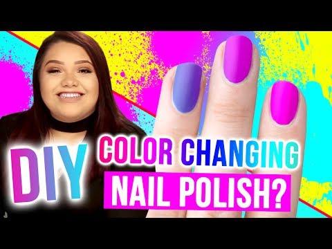 DIY COLOR-CHANGING Nail Polish?!! Makeup Mythbusters w/ Karina Garcia & MayraTouchOfGlam