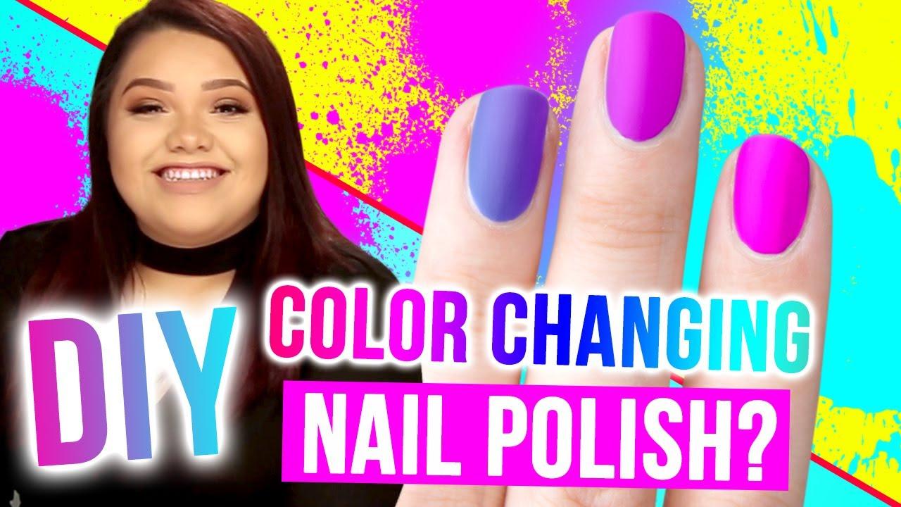 DIY COLOR-CHANGING Nail Polish?!! Makeup Mythbusters w/ Karina ...