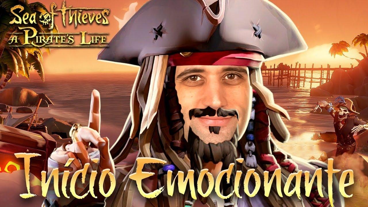 Sea Of Thieves e Piratas do Caribe - O INÍCIO EMOCIONANTE