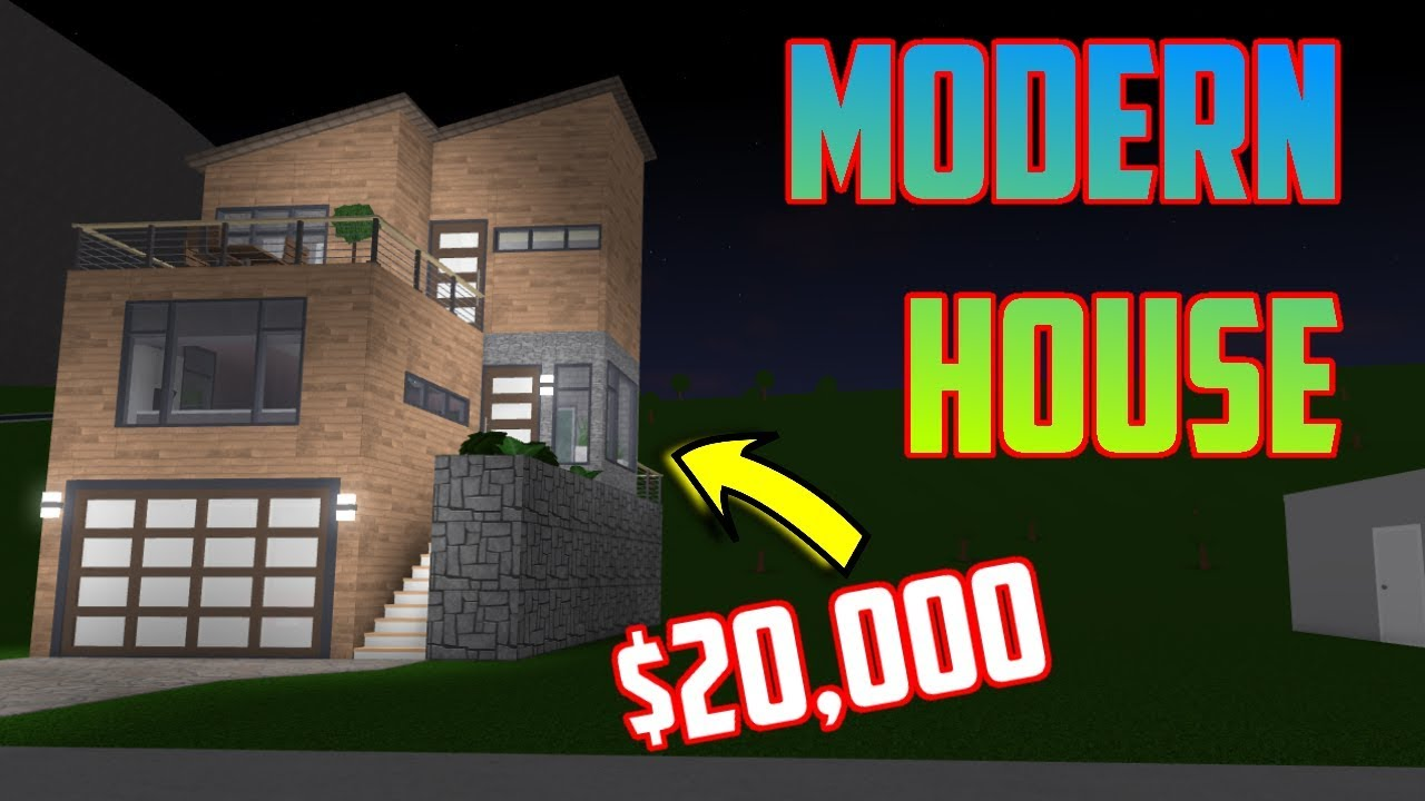 I Spent 24 Hours In Someones House Roblox Bloxburg Youtube - Modern House Tutorial 20 000 Welcome To Bloxburg Roblox Youtube