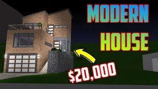 MODERN HOUSE TUTORIAL $20,000! Welcome To Bloxburg Roblox